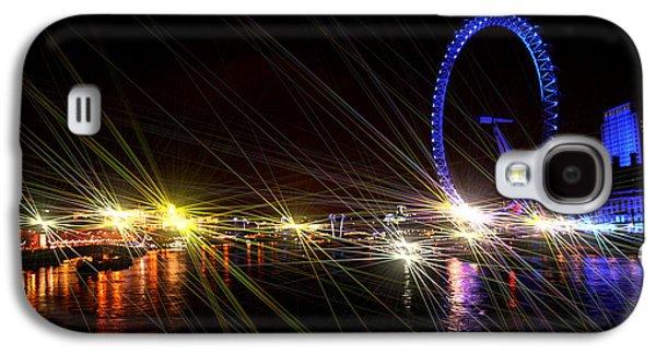 Owner Mixed Media Galaxy S4 Cases - London Eye Art II Galaxy S4 Case by Michael Braham