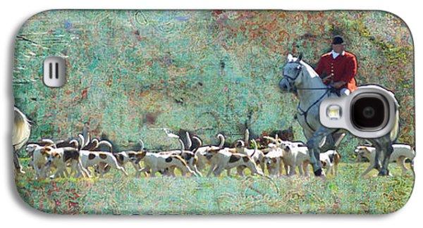 Dogs Digital Art Galaxy S4 Cases - London Hunt Galaxy S4 Case by Melanie Prosser