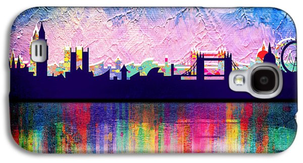 Animation Galaxy S4 Cases - London in blue  Galaxy S4 Case by Mark Ashkenazi