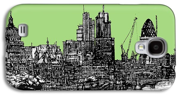 Architecture Framed Prints Galaxy S4 Cases - London in hemlock green Galaxy S4 Case by Lee-Ann Adendorff