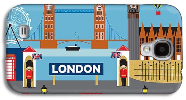 London England Skyline Style O-lon Galaxy S4 Case by Karen Young