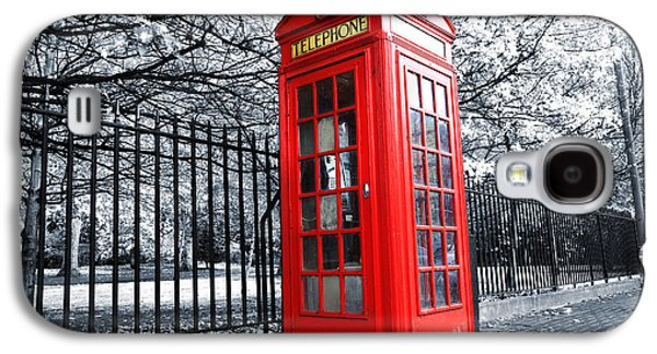 Box Galaxy S4 Cases - London Phone Box Galaxy S4 Case by Simon Kayne