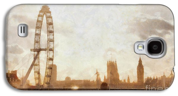 London Skyline At Dusk 01 Galaxy S4 Case by Pixel  Chimp