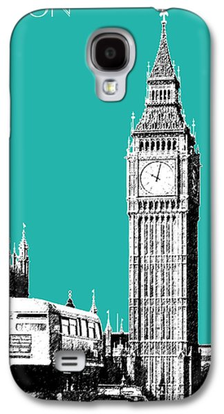 Pencil Digital Galaxy S4 Cases - London Skyline Big Ben - Teal Galaxy S4 Case by DB Artist