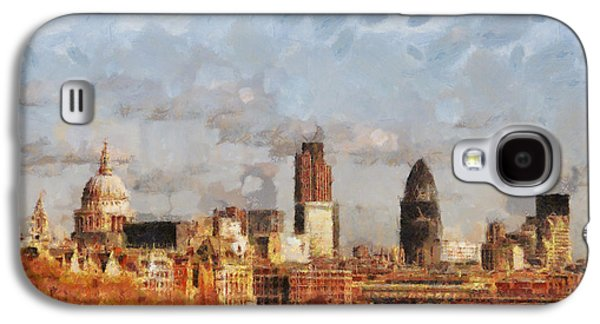 London Skyline From The River  Galaxy S4 Case by Pixel Chimp