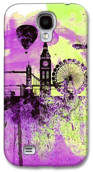 London Skyline Watercolor 1 Galaxy S4 Case by Naxart Studio