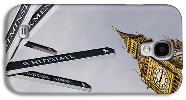 London Street Signs Galaxy S4 Case by David Smith