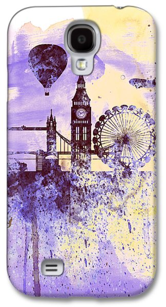 Downtown Digital Galaxy S4 Cases - London Watercolor Skyline Galaxy S4 Case by Naxart Studio