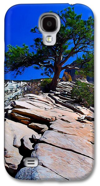 Photo Manipulation Photographs Galaxy S4 Cases - Lone Pine at Zion Galaxy S4 Case by Bill Caldwell -        ABeautifulSky Photography