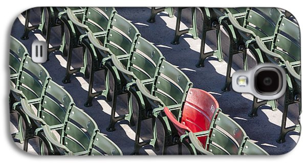 Red Sox Galaxy S4 Cases - Lone Red Number 21 Fenway Park Galaxy S4 Case by Susan Candelario