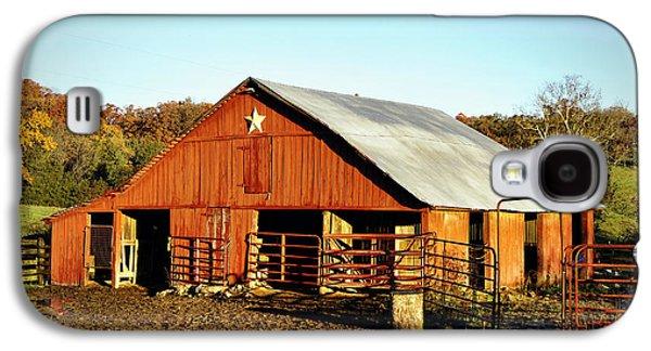 Mud Season Galaxy S4 Cases - Lone Star Barn Galaxy S4 Case by Cricket Hackmann
