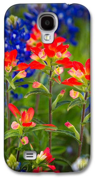 North America Galaxy S4 Cases - Lone Star Blooms Galaxy S4 Case by Inge Johnsson