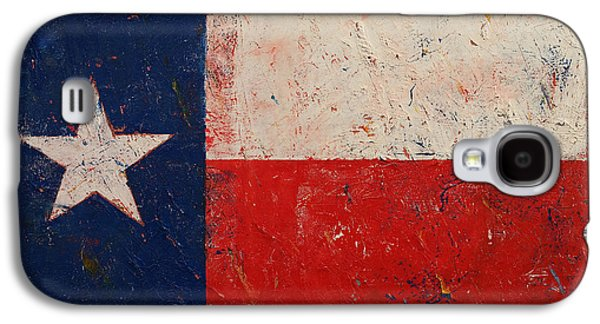 4th July Paintings Galaxy S4 Cases - Lone Star Galaxy S4 Case by Michael Creese