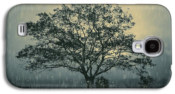 Chromatic Galaxy S4 Cases - Lone Tree and Stormy Evening Galaxy S4 Case by David Gordon