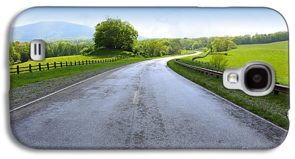 Highlands Digital Art Galaxy S4 Cases - Long and Winding Road Galaxy S4 Case by Thomas R Fletcher