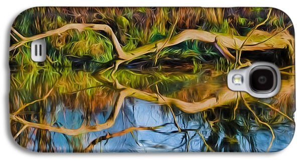 Trees Reflecting In Creek Galaxy S4 Cases - Long Arms IMP Galaxy S4 Case by Leif Sohlman