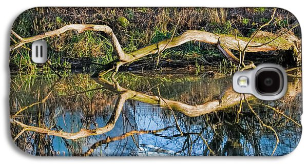 Trees Reflecting In Creek Galaxy S4 Cases - Long arms Galaxy S4 Case by Leif Sohlman