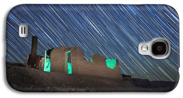 Constellations Pyrography Galaxy S4 Cases - Long Exposure Star Trail Image Galaxy S4 Case by Katrina Brown