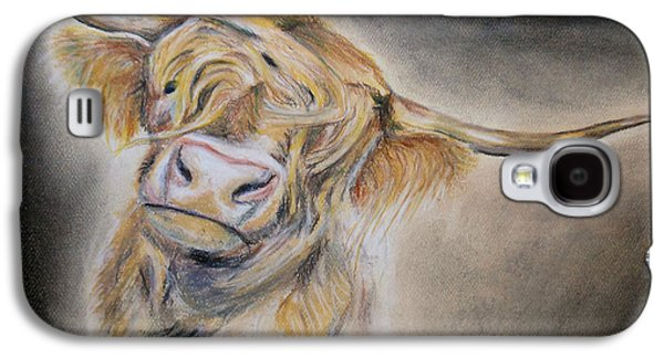 Fog Mist Pastels Galaxy S4 Cases - Long Haired Cow Galaxy S4 Case by Michelle Iglesias