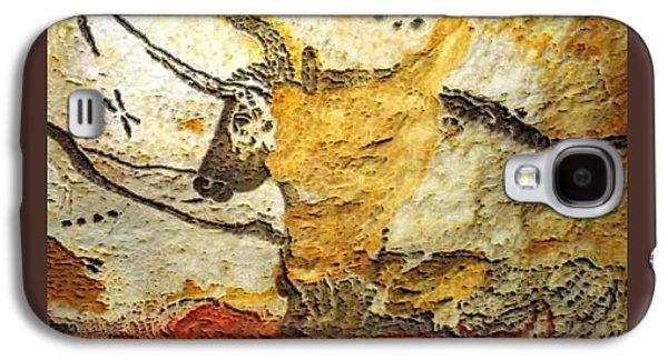 Long Horn Bull Lascaux Cave Upsized Little Enhanced Galaxy S4 Case by L Brown