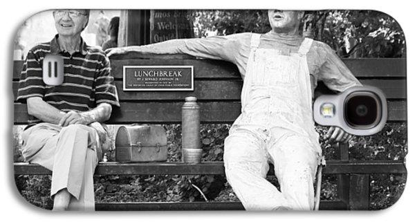 Statue Portrait Galaxy S4 Cases - Long Lunch Break Galaxy S4 Case by Jerry Cordeiro