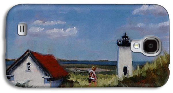 New England Lighthouse Paintings Galaxy S4 Cases - Long Point Lighthouse Galaxy S4 Case by Laura Lee Zanghetti