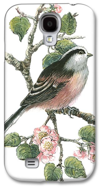 Long Tailed Tit And Cherry Blossom Galaxy S4 Case by Nell Hill