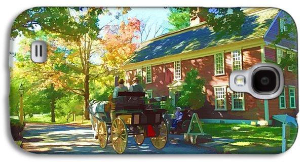 Sudbury Ma Galaxy S4 Cases - Longfellows Wayside Inn Galaxy S4 Case by Barbara McDevitt