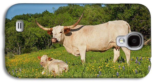 Longhorn Cattle On Central Texas Ranch Galaxy S4 Case by Larry Ditto