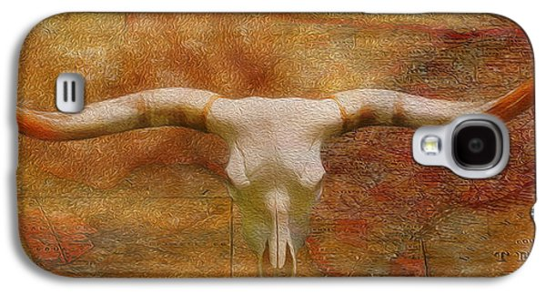 Antique Map Digital Galaxy S4 Cases - Longhorn of Texas Galaxy S4 Case by Jack Zulli