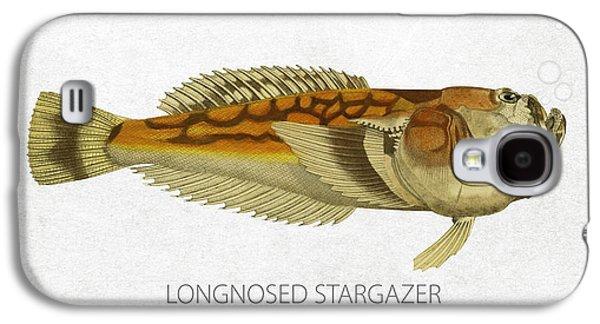 Aquarium Fish Galaxy S4 Cases - Longnosed stargazer Galaxy S4 Case by Aged Pixel