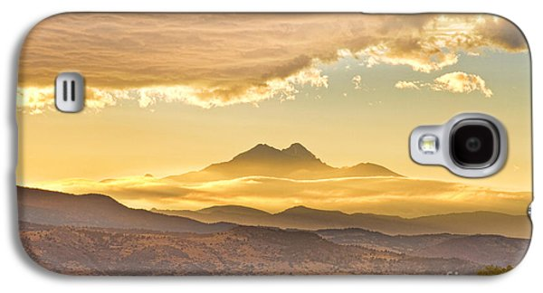 Best Sellers -  - Landscape Acrylic Prints Galaxy S4 Cases - Longs Peak Autumn Sunset Galaxy S4 Case by James BO  Insogna