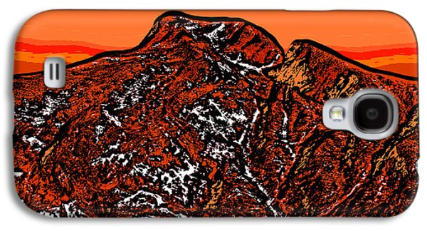 Sunset Abstract Galaxy S4 Cases - Longs Peak - Colorado Galaxy S4 Case by David G Paul