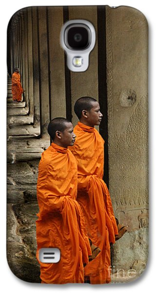 Buddhist Monk Galaxy S4 Cases - Looking Into Cambodia Ankor Wat Galaxy S4 Case by Bob Christopher
