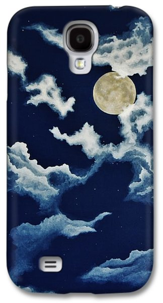 Man In The Moon Galaxy S4 Cases - Look at the Moon Galaxy S4 Case by Katherine Young-Beck