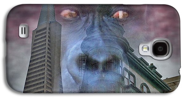 Francis Ford Coppola Galaxy S4 Cases - Look Out San Francisco King Kong is coming  Galaxy S4 Case by Jim Fitzpatrick