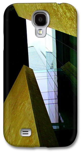 Uptown Charlotte Galaxy S4 Cases - Look Up Mint Uptown Galaxy S4 Case by Randall Weidner