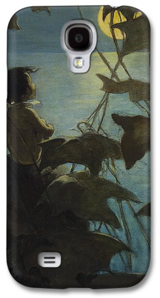 Nature Drawings Galaxy S4 Cases - Looking at the moon circa 1916 Galaxy S4 Case by Aged Pixel