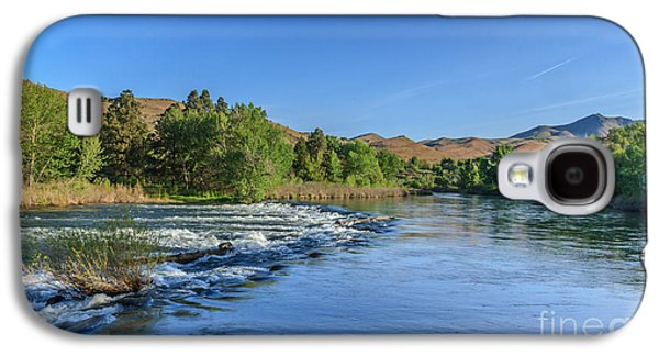 River Flooding Galaxy S4 Cases - Looking Down The Payette River Galaxy S4 Case by Robert Bales