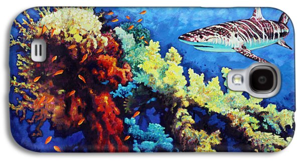 Shark Paintings Galaxy S4 Cases - Looking for Fast Food Galaxy S4 Case by John Lautermilch
