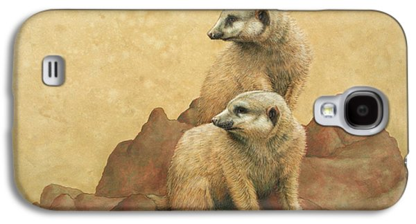 Nature Drawings Galaxy S4 Cases - Lookouts Galaxy S4 Case by James W Johnson