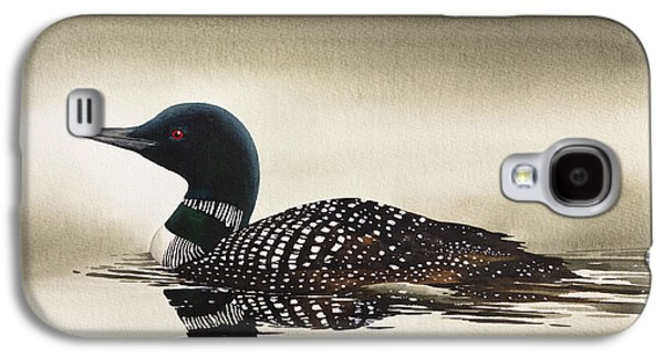 Loon Galaxy S4 Cases - Loon in Still Waters Galaxy S4 Case by James Williamson