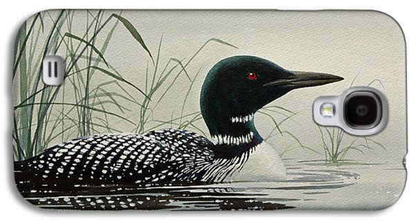 Loon Galaxy S4 Cases - Loon Near the Shore Galaxy S4 Case by James Williamson