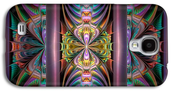 Abstract Digital Galaxy S4 Cases - Loonie Behind Bars Galaxy S4 Case by Peggi Wolfe