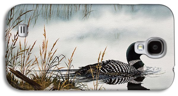 Loons Misty Shore Galaxy S4 Case by James Williamson