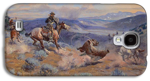 Charles Digital Art Galaxy S4 Cases - Loops And Swift Horses Are Surer Than Lead Galaxy S4 Case by Charles Russell