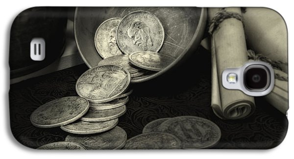 Coins Photographs Galaxy S4 Cases - Loose Change Still Life Galaxy S4 Case by Tom Mc Nemar