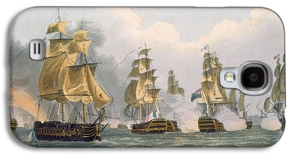 Historic Ship Galaxy S4 Cases - Lord Bridports Action Off Port Lorient Galaxy S4 Case by Thomas Whitcombe