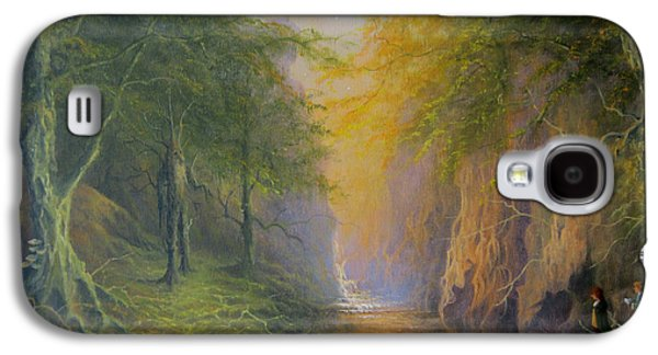 Lord Of The Rings Fangorn Treebeard Merry And Pippin Galaxy S4 Case by Joe  Gilronan