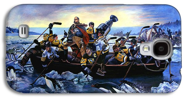 Lord Stanley And The Penguins Crossing The Allegheny Galaxy S4 Case by Frederick Carrow